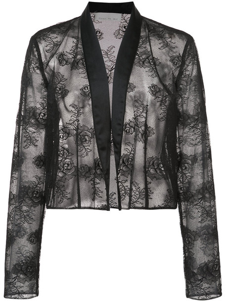 Fleur du Mal jacket women spandex lace black