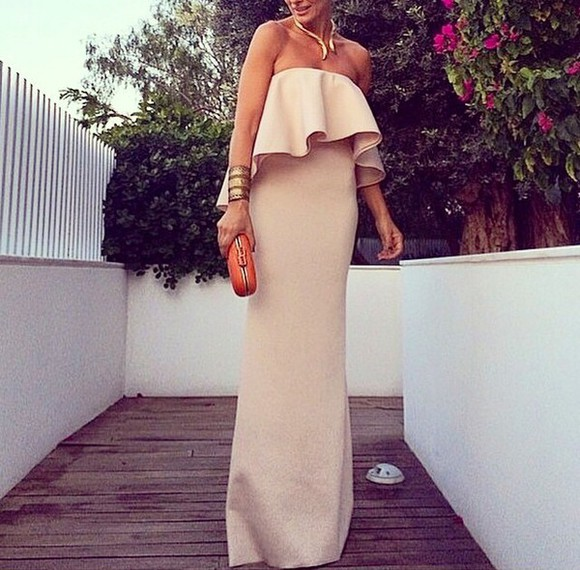 nude dress dress fashion elegant like a lady wow awesome dress peach color amazing classy gorgeous love party