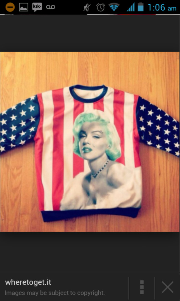 sweater marilyn monroe