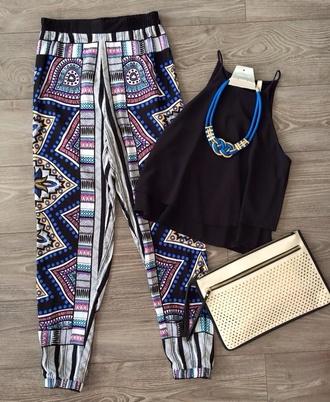pants boho boho pants hippiechic bohemian black lace boho pants