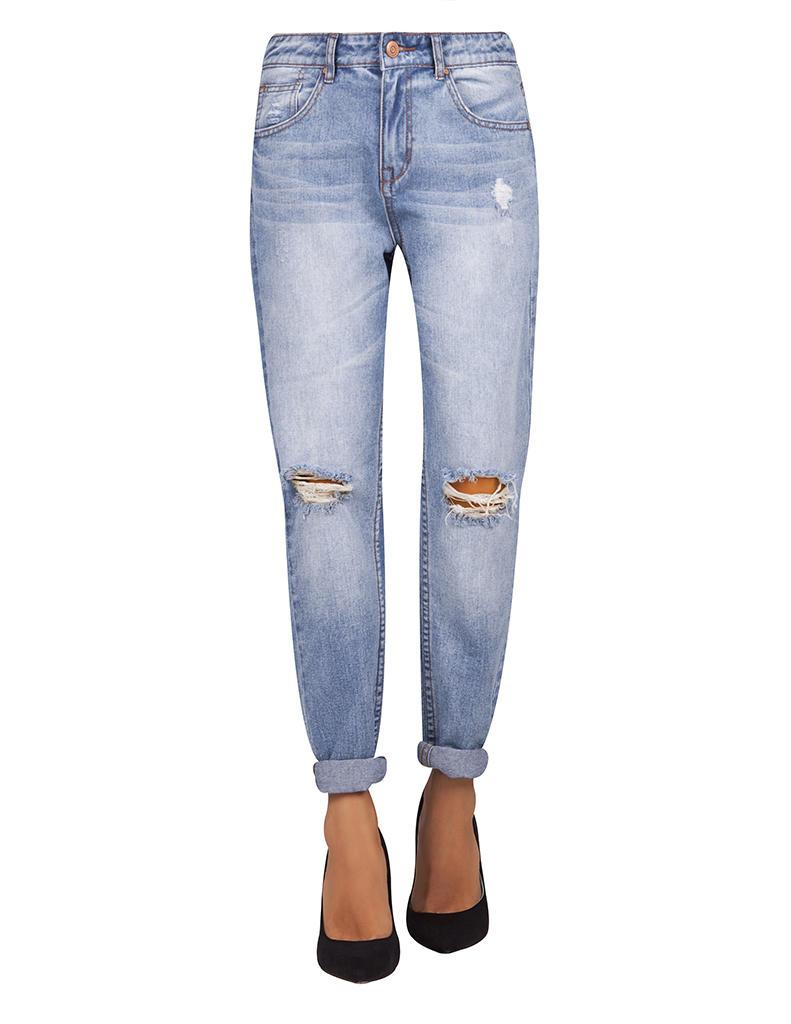 Jeans boyfriend medium rise | SHOP ONLINE BLANCO.COM