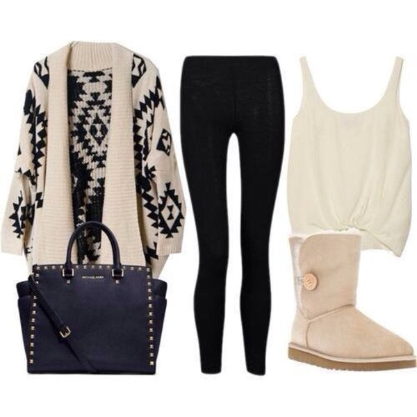 sweater sweater leggings bag shoes