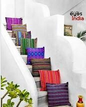 home accessory,eyes of india,pillow,boho,colorful pillows,bohemian decor,dhurrie pillows,interior decor,handmade,artisan decor