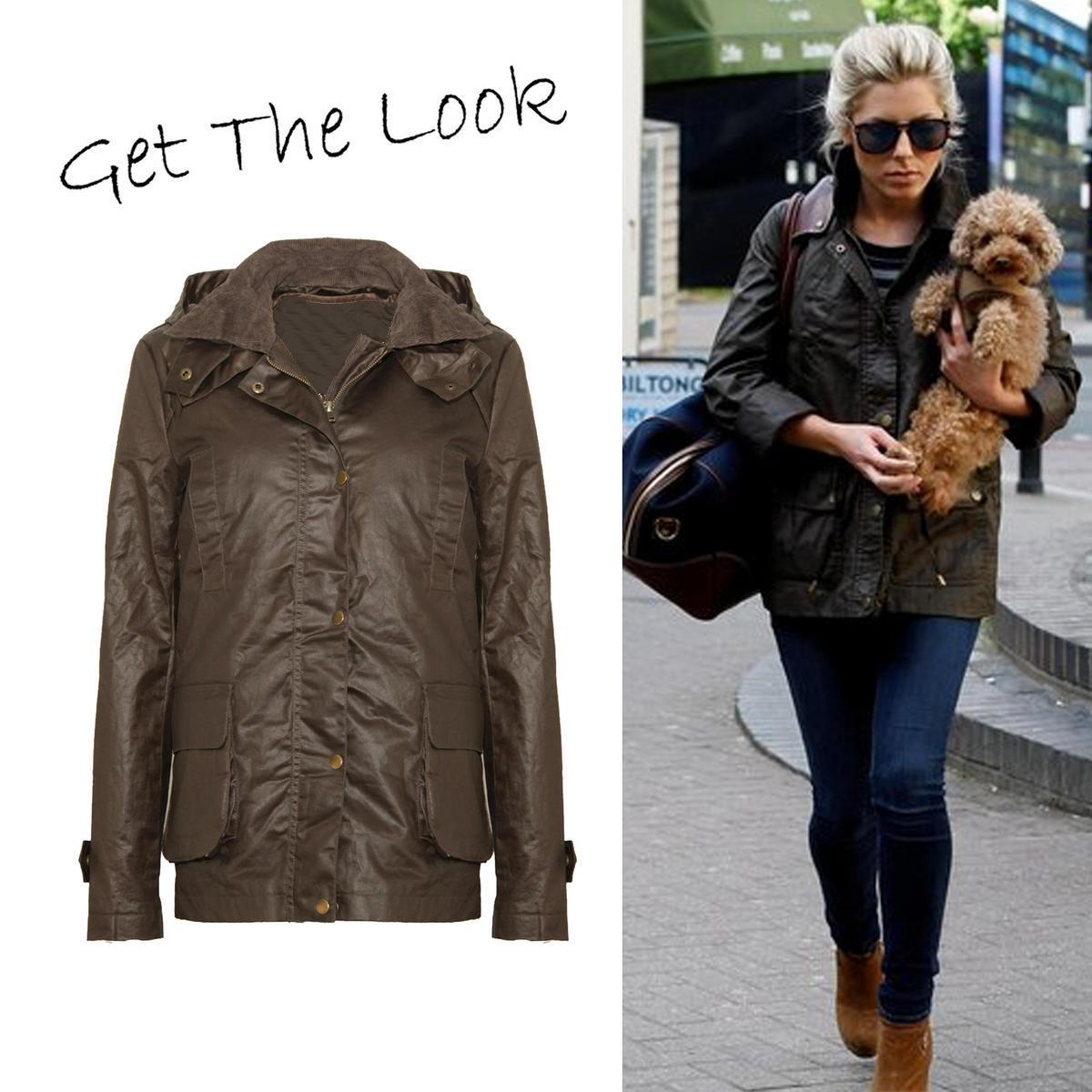 Khaki hooded waxed parka buy online