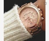 jewels,watch,rose gold watch,michael kors watch