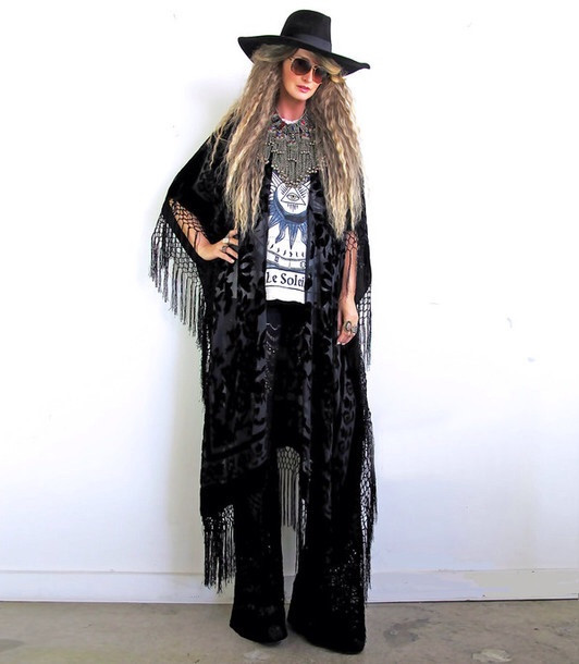 DEEP Black KIMONO – CHRISTIAN GOD CLOTHING STORE