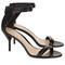 Black leather martini sandals