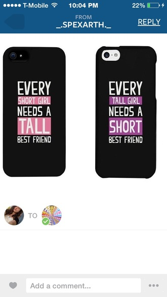 phone cover style iphone cover iphone 5 case iphone best friends infinity ring blonde hair every blonde needs a brunette best friend brunette best friend shirts pretty purple pink dress black dress white dress