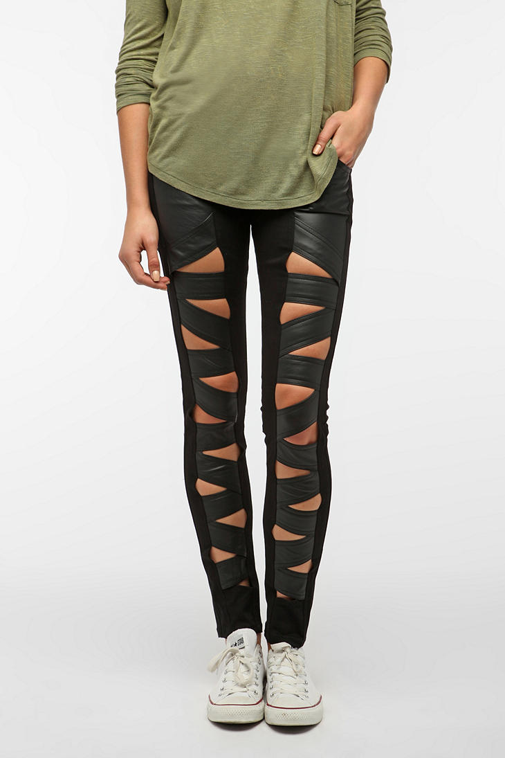 Tripp NYC Faux Leather Z-Cut Jean - Urban Outfitters