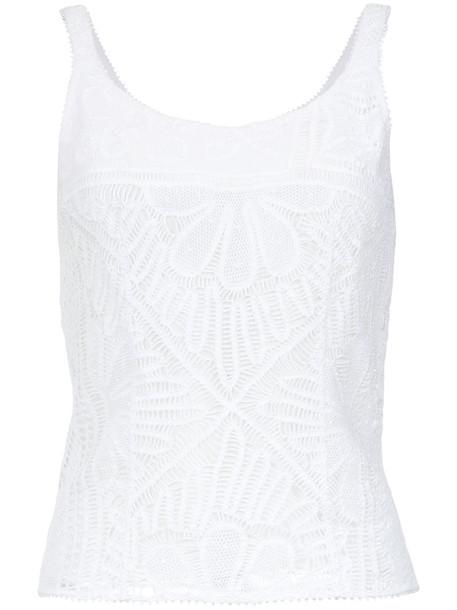 MARTHA MEDEIROS blouse women lace white cotton top