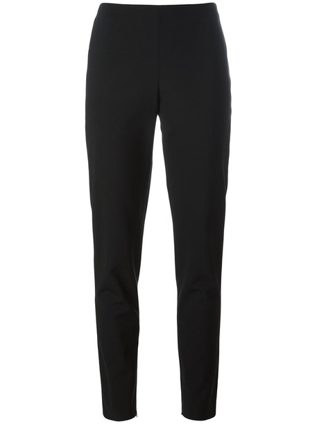 La Perla - Essentials trousers - women - Spandex/Elastane/Virgin Wool - 44, Black, Spandex/Elastane/Virgin Wool