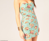 dress,floral,blue,floral dress,blue dress,bodycon dress,slim fit,cute dress,flowers