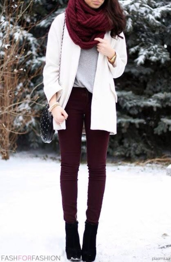 Excellent Black Sweaters Maroon Pants  QuotTrench Coatquot By Blogdale  Chictopia