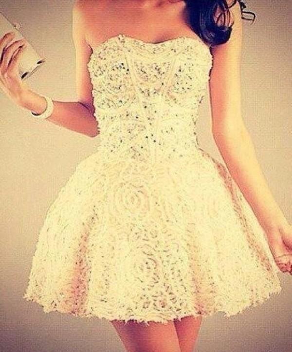 dress prom dress white beautiful