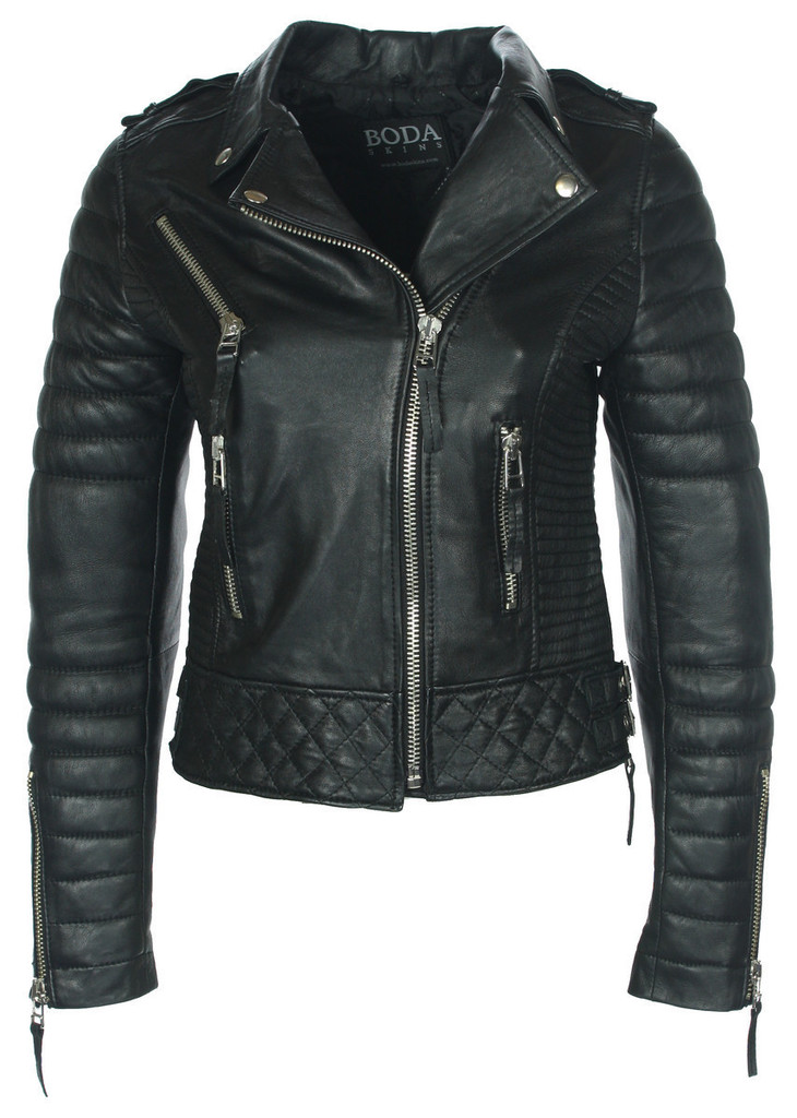 Kay Michaels Quilted Biker (Oil Black) – BODA SKINS - Leather to Love Forever