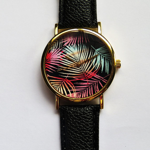 jewels tropical palm tree freeforme watch style