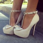 shoes,high heels,cream high heels,studded high heels,beige shoes,beige,bow,bow shoes,studs,studded shoes,t-strap heels,white,heels,white high heels,pumps,spikes,classy,cute high heels,amazinfg highheels shoes,chain,platform shoes,nude high heels,rivets,gold,beige bow high heels,bows,sexy shoes,shorts,cute,fashion,nude,black,red,sexy,white heels,classic,pretty,stilettos,gold chain,baddies,bow heels,nude pumps,bow high heels,style,super cute,love,cream,cream heels,cream shoes,white shoes,studded,studded heels,gold chain heels,prom,nude heels,high heel pumps,platform pumps