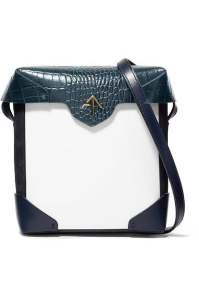 mini bag shoulder bag leather white suede