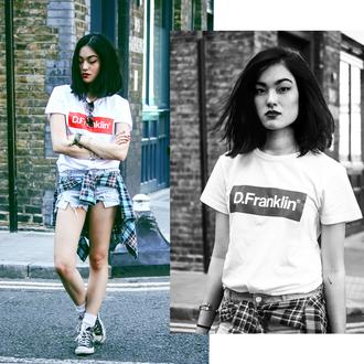 alessandra kamaile blogger t-shirt shorts shirt jewels shoes