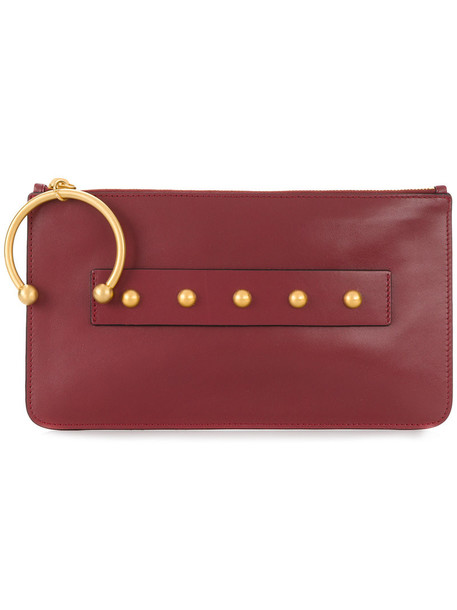 RED VALENTINO women clutch leather red bag