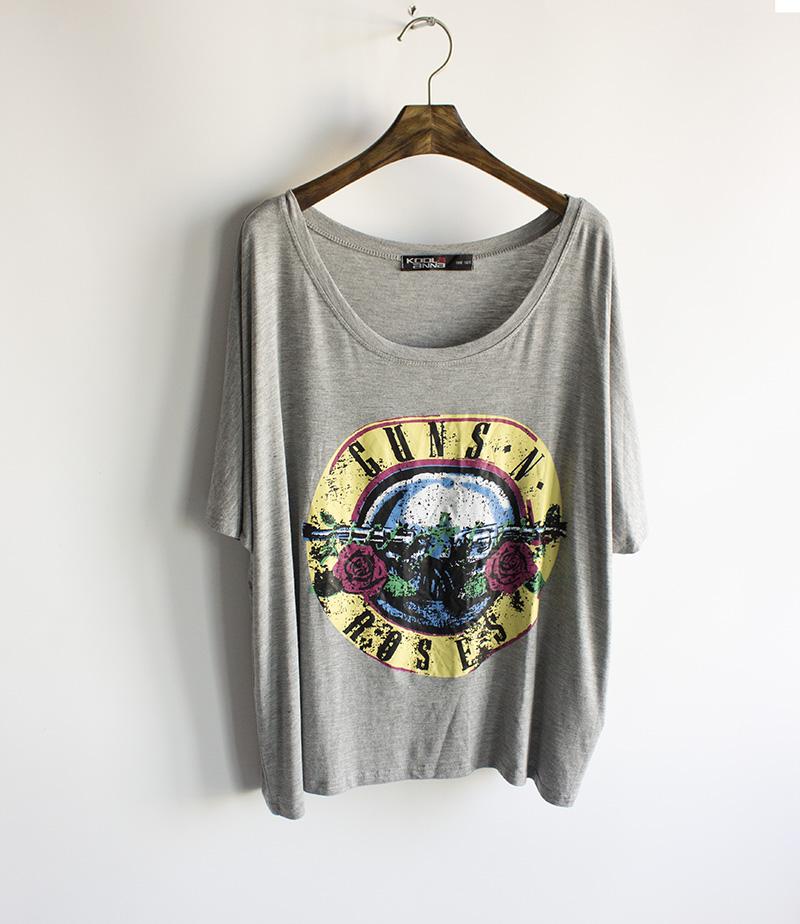 e1e76325ffd Aliexpress.com   Buy Wildfox guns n roses loose plus size women s t shirt  short sleeve shirt ...
