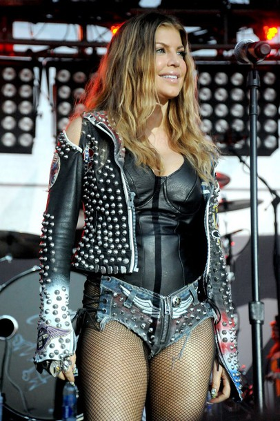 shorts fergie spikes jacket top