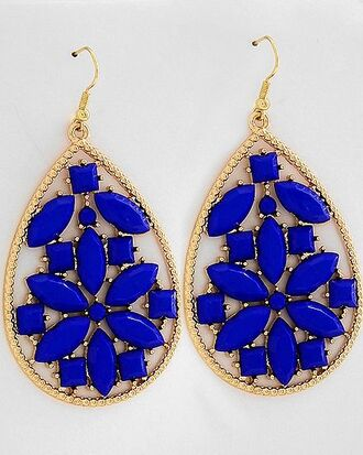 jewels electric blue blue gold earrings gold accessoris accessories gold earings