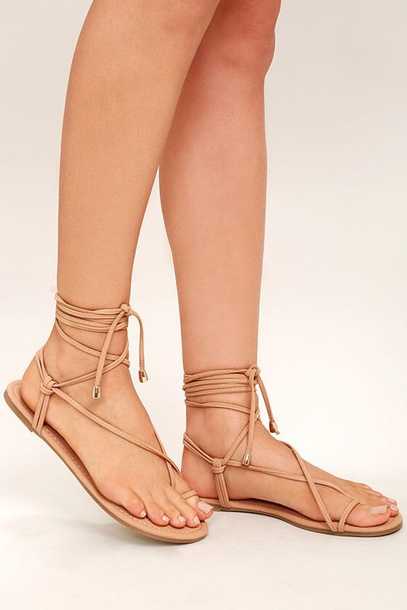 shoes strappy nude sandals nude flat sandals flat sandals cute sandals toe  ring sandal cute strappy