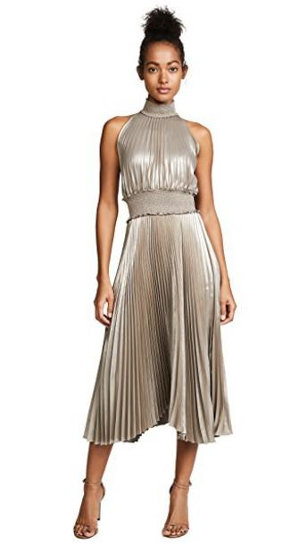 A.L.C. dress gold