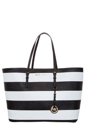 MICHAEL Michael Kors JET SET TRAVEL - Shopping Bag - black/white - Zalando.de