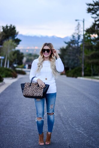 all dolled up blogger sweater tank top jewels sunglasses bag shoes