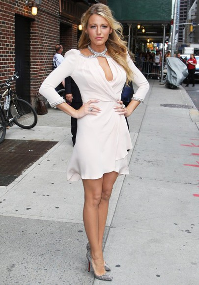 blake lively elegant white dress diamantes flowy dress