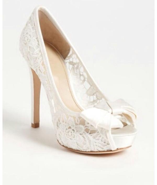 High-Heels Peeptoes in weiß für nur 27.99 EUR kaufen (P ...