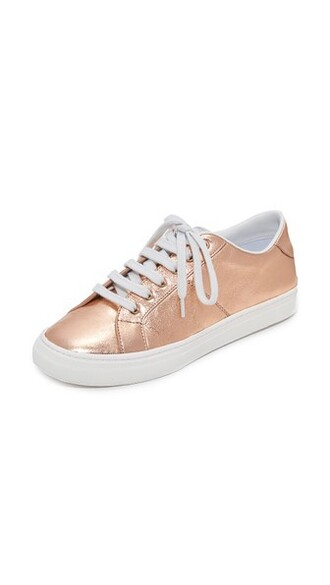 rose gold rose sneakers low top sneakers gold shoes