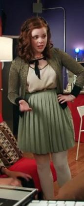 skirt,crimped,green