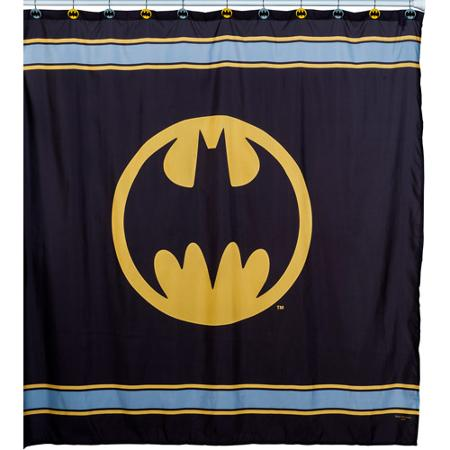 Batman Logo Fabric Shower Curtain - Walmart.com