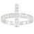 Bague argent croix blanc z0004952 | Qui Est La Plus Belle - By INESENS - Boutique de bijoux