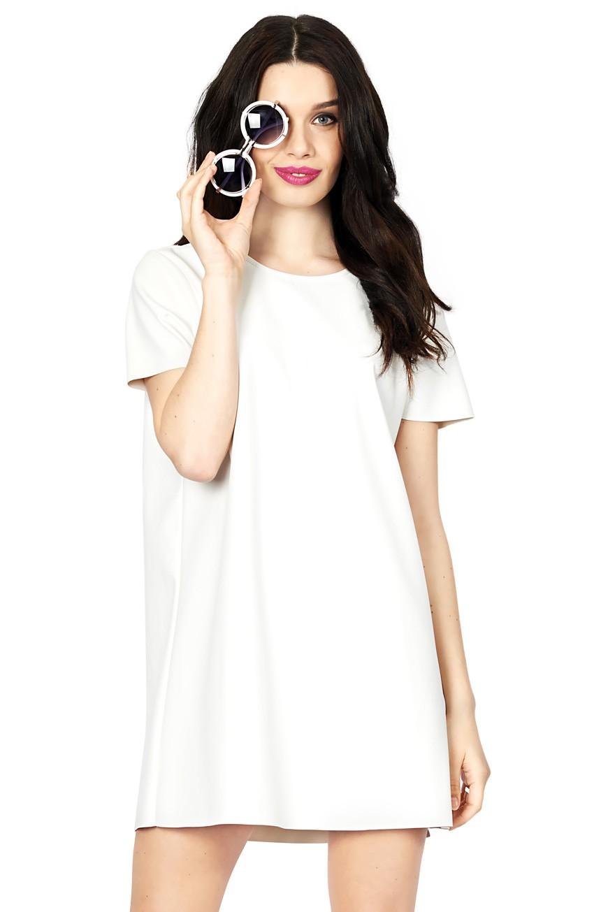 166ed9e2011 Cool Breeze White PU Tee Dress