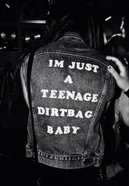 jacket teenage dirtbag punk song lyrics