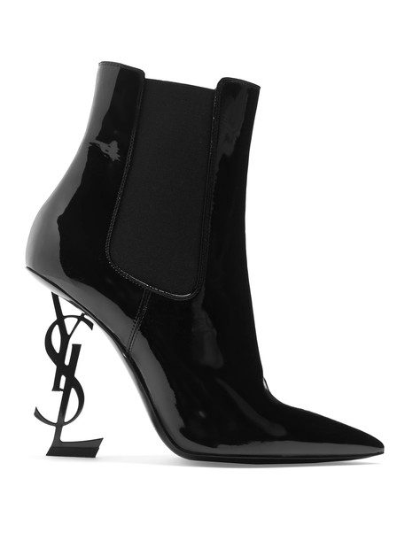 Saint Laurent heel leather ankle boots ankle boots leather black shoes