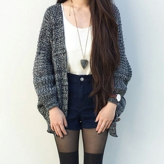 cardigan jewelry jewels shorts tights on point clothing indie