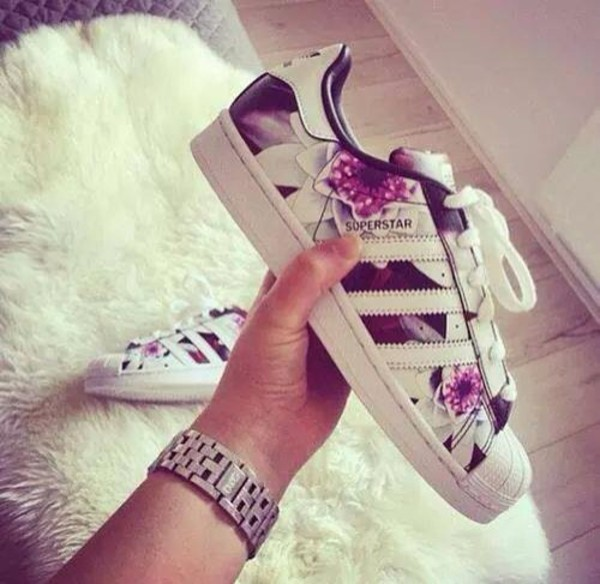 Shoes adidas superstars floral low top sneakers adidas floral sneakers
