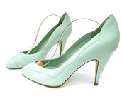 shoes,mint green pumps,vintage