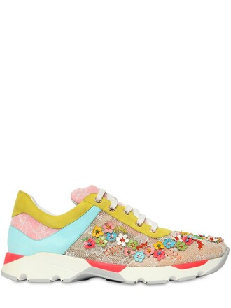 embellished sneakers lace shoes