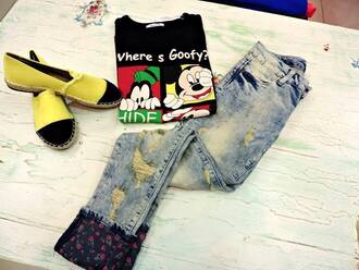 black black blouse disney mickey mouse minnie mouse minnie and mickey goofy cute long sleeves funny shirt black shirt