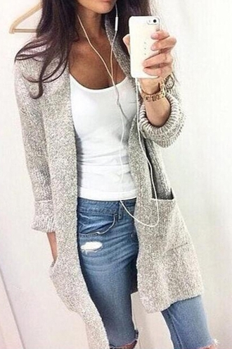 cardigan grey zaful streetwear instagram fashion stylish casual style trendy thanksgiving