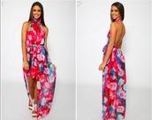 dress,formal dress,maxi dress,maxi,formal,coloured,floral,floral dress,Casper and Pearl