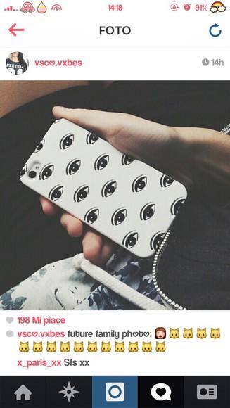 iphone case phone case cover eyes eyes print