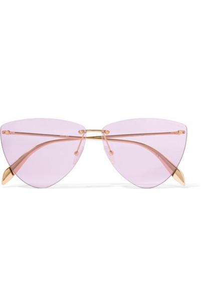 Alexander Mcqueen style sunglasses gold purple