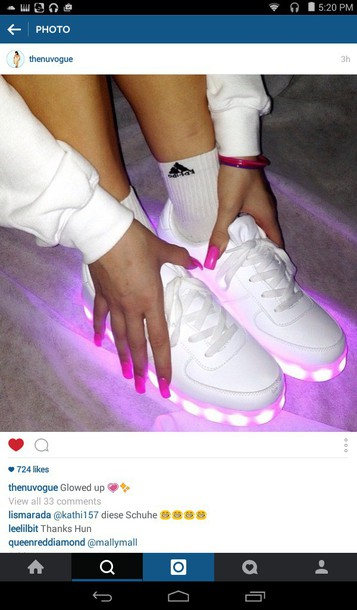 0ecba176dbb1 shoes led light shoes light up shoes neon pink shoes